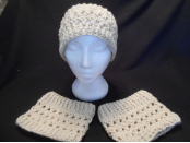 Off White Ear Warmers and Boot Cuff Set
