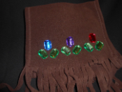 Spring Jewled Brown Fleece Scarf
