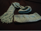 Seafoam Ear Warmers And Scarf Set