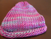 Purples And Blue Loom Hat Without Brim