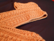 Golden Warmth Hooded Scarf