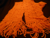 Golden Cable Crochet Scarf
