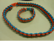 Two Color Paracord Bracelet and Necklace Set