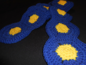 Yellow And Blue Scarf