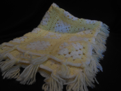 Yellow/White granny square baby blanket