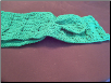 Green Cable Crochet Scarf