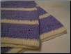 Purple and White Baby Blanket