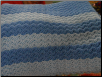 White and Blue Strips Baby Blanket