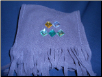 Diamond Jeweled Brown Fleece Scarf