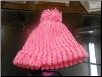 Two Tone  Pink Loom Hat