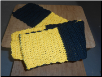 Black and Yellow Block scarf