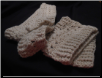 Off White Boot Cuffs And Scarf Set