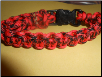 Red and Black Patterned Paracord Bracelet