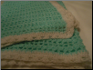 Sparkling Green baby Blanket